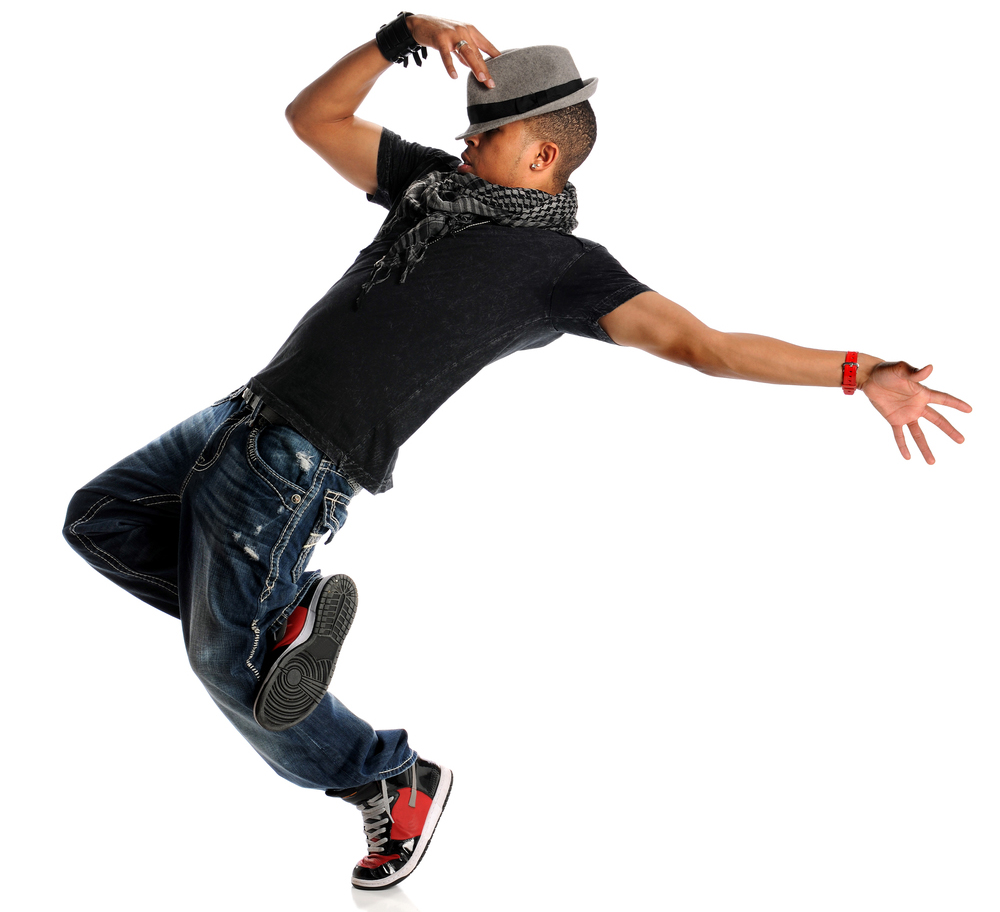 african american man dancing to hip-hop music